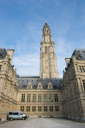 middle ages: church Saint Vaast from the middle ages in French Arras