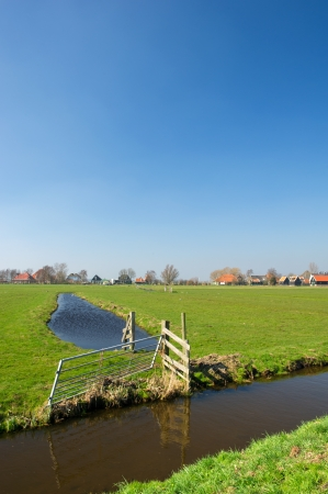 Typical Dutch landscape with meadows and ditches Stock Photo - 14506733