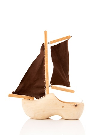 Typical Dutch toy boat made from wooden clog Stock Photo - 14506718
