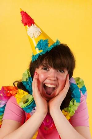 Young woman is happy at her birthday Stock Photo - 14697788