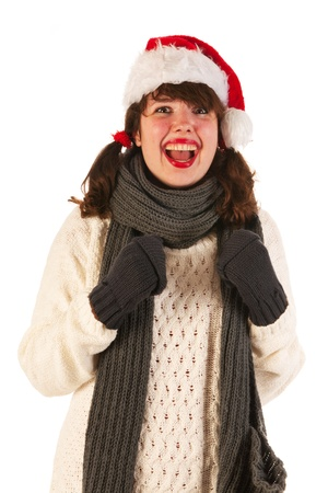 Girl with hat of Santa Claus Stock Photo - 15213282