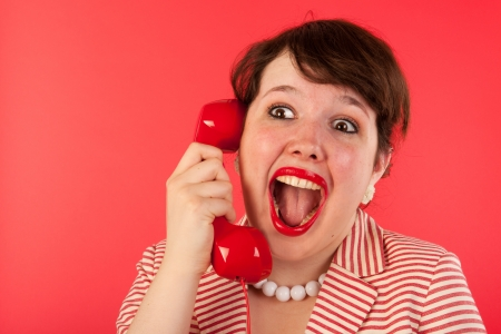 Young woman is having good news on the phone Stock Photo - 15125612