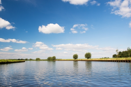 eem: Landscape with Dutch river the Eem Stock Photo