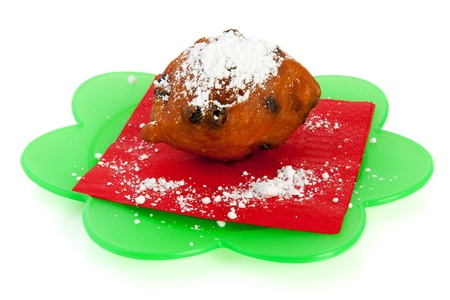 Traditional dutch oliebol for New years eve