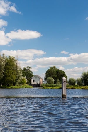 Water pumping station near Dutch river the Eem