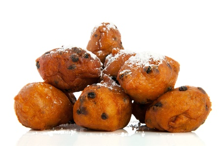 Traditional dutch oliebollen for New years eve Stock Photo
