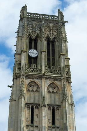 jacques: Old tower of Saint Jacques church in Dieppe Stock Photo