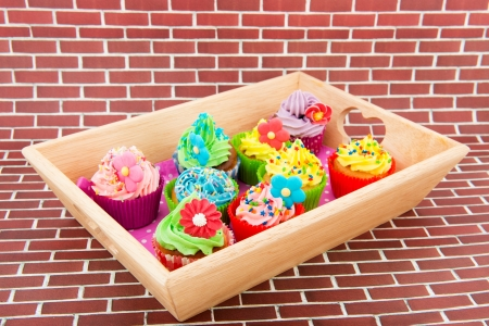 colorful cupcakes with butter cream Stock Photo - 15564323