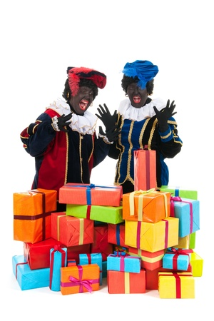 Dutch characters as black petes for typical Sinterklaas holidays photo