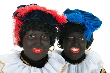piet: Dutch characters as black petes for typical Sinterklaas holidays in portrait