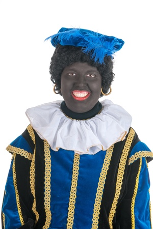 black pete: Dutch character as black pete for typical Sinterklaas holidays in portrait Stock Photo