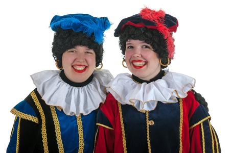 Dutch characters as white petes for typical Sinterklaas holidays in portrait photo