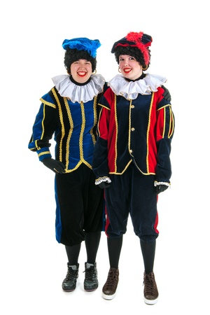 Dutch characters as black petes for typical Sinterklaas holidays in portrait Stock Photo - 15894350