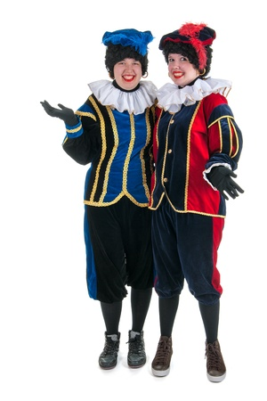 full strenght: Dutch characters as black petes for typical Sinterklaas holidays in portrait