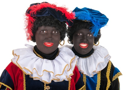 Dutch characters as black petes for typical Sinterklaas holidays in portrait Stock Photo - 16303450