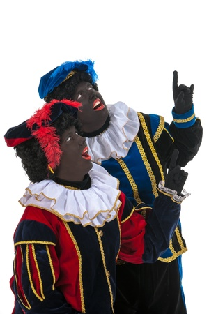 black pete: Dutch black petes for pointing together
