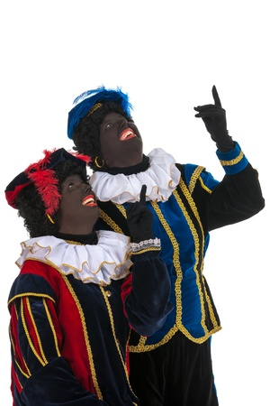 Dutch black petes for pointing together Stock Photo - 16303514