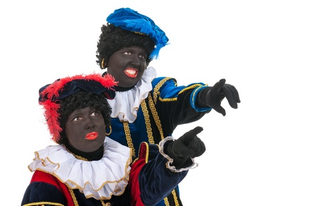 Dutch black petes for pointing together Stock Photo - 16303542
