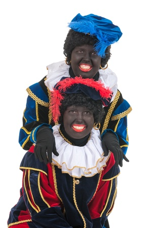 Dutch character as black pete for typical Sinterklaas holidays in portrait photo