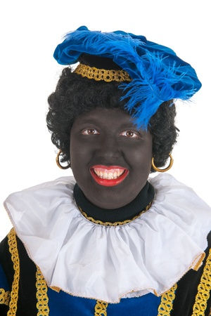 Dutch character as black pete for typical Sinterklaas holidays in portrait Stock Photo - 16303453