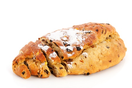 christmas paste: currant bread for Christmas or Easter Stock Photo