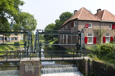 Fulling mill in water from Dutch Amersfoort Stock Photo - 17987308
