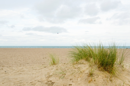 almost: Almost empty beach in Dutch Renesse Stock Photo