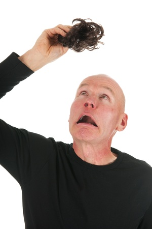 New hair for bald hair on white background photo