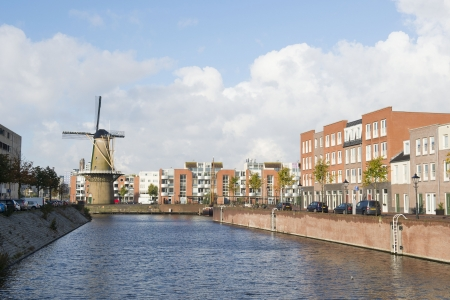 Historic windmill De Distilleerketel at Delfshaven Dutch Rotterdam Stock Photo - 18203547