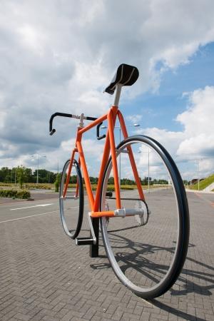 racing bike: Big racing bike at the street