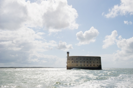 Fort Boyard in the middle of the sea in France