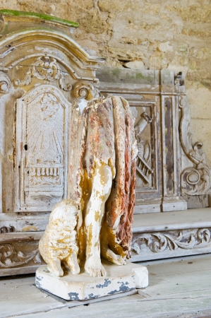 desecrated: Destroyed church in Oradour sur Glane in the French Limousin