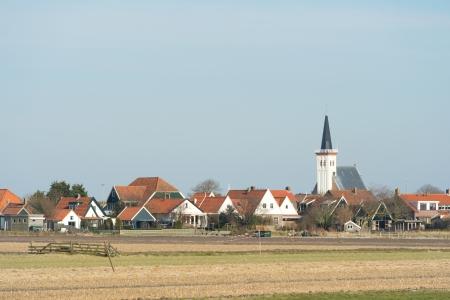 hoorn: Small village Den Hoorn on Dutch wadden island Texel