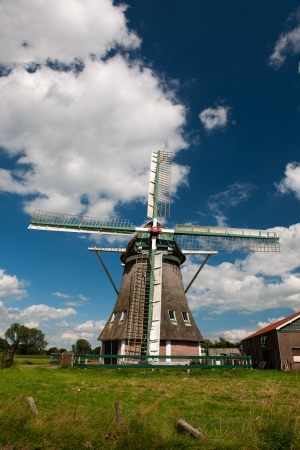 Dutch windmill in village Wenum in Gelderland Stock Photo - 18821616