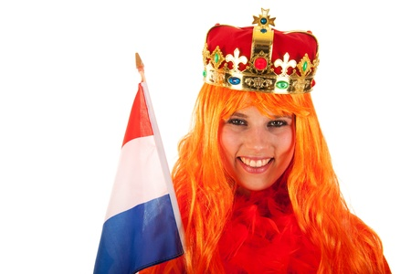 Girl celebrating kings day in Holland photo