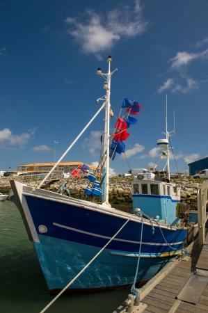 Harbor in La Cotiniere at island dOleron in France photo