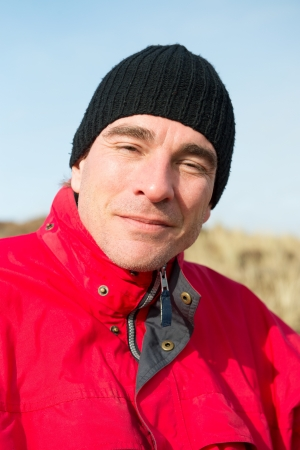 Portrait Outdoor man at the coast photo