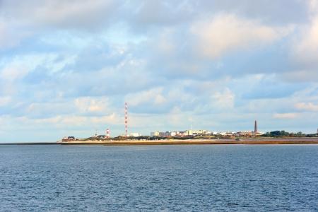 wadden: German wadden island Borkum taken from the sea Stock Photo