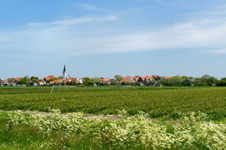 hoorn: Village Den Hoorn at Dutch wadden island Texel
