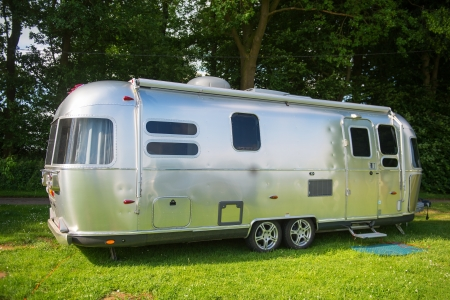 Metal caravan for holidays photo