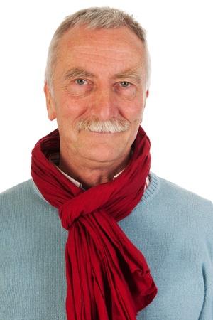 Older man looking up in studio Stock Photo - 21043619