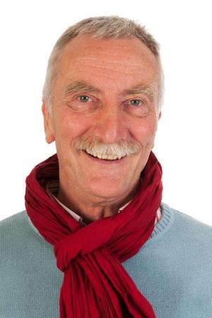 Older man looking up in studio Stock Photo - 21043620