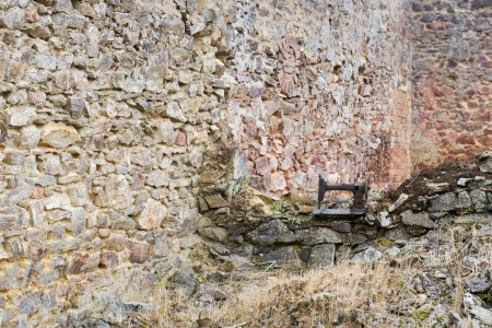 atrocity: Destroyed Oradour sur Glane in the French Limousin with leaving sewing machine