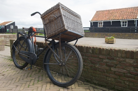 dutch typical: Typical old Dutch transport bike with big basket