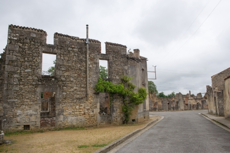 atrocity: Destroyed Oradour sur Glane in the French Limousin