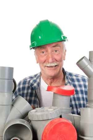 Plumber confused by assortment pvc tubes photo