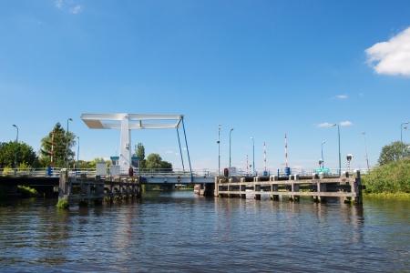 eem: drawbridge over river