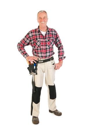 Senior man as manual worker