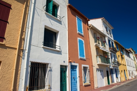 port vendres: Colorful houses at the quay in Port Vendres