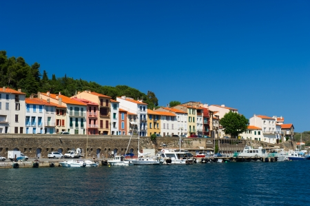 port vendres: Harbor with boats in Port Vendres